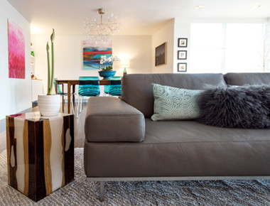Living room design accents in Denver, Colorado by MARGARITA BRAVO