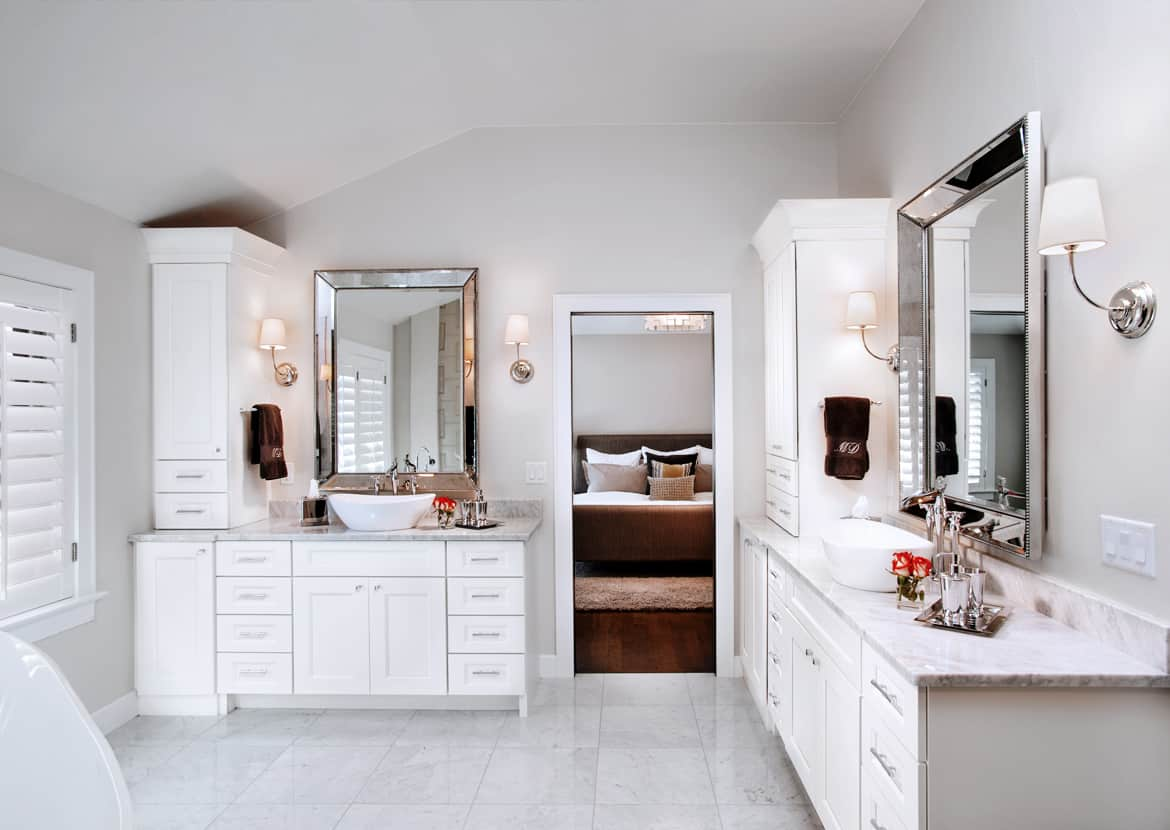 Denver upscale bathroom interior design by MARGARITA BRAVO