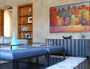 Trasitional living room interior design in Denver, Colorado by MARGARITA BRAVO