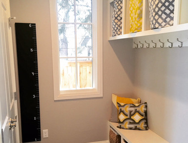 Mudroom interior design in Denver, CO by MARGARITA BRAVO