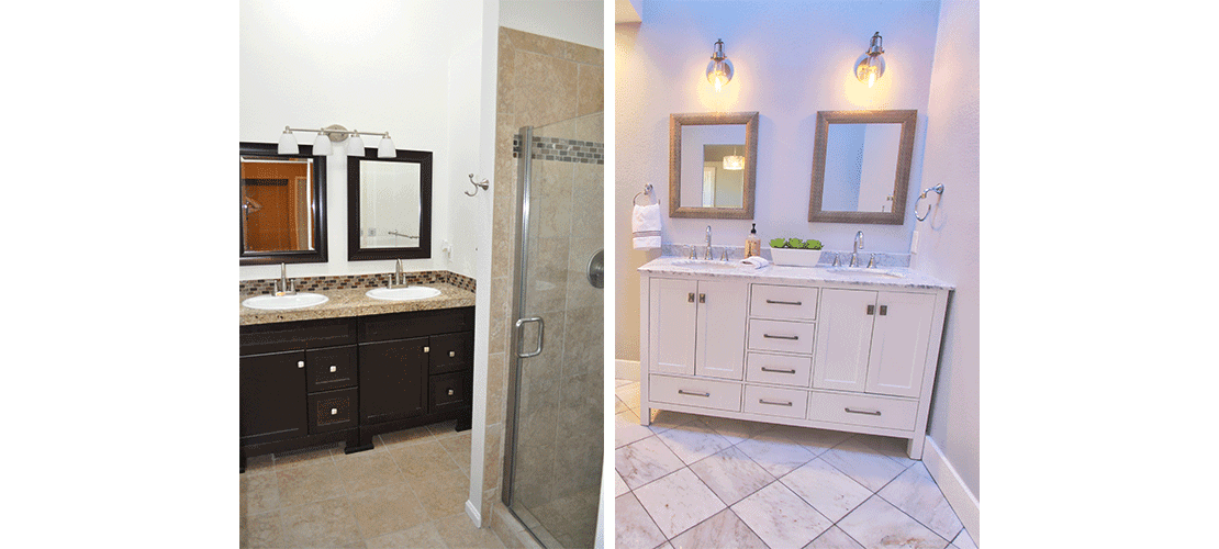 Congress Park Before After Bath Vanity