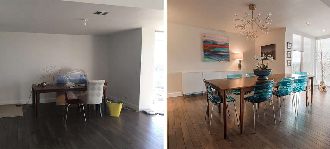 Girard Place Before After Dining Room