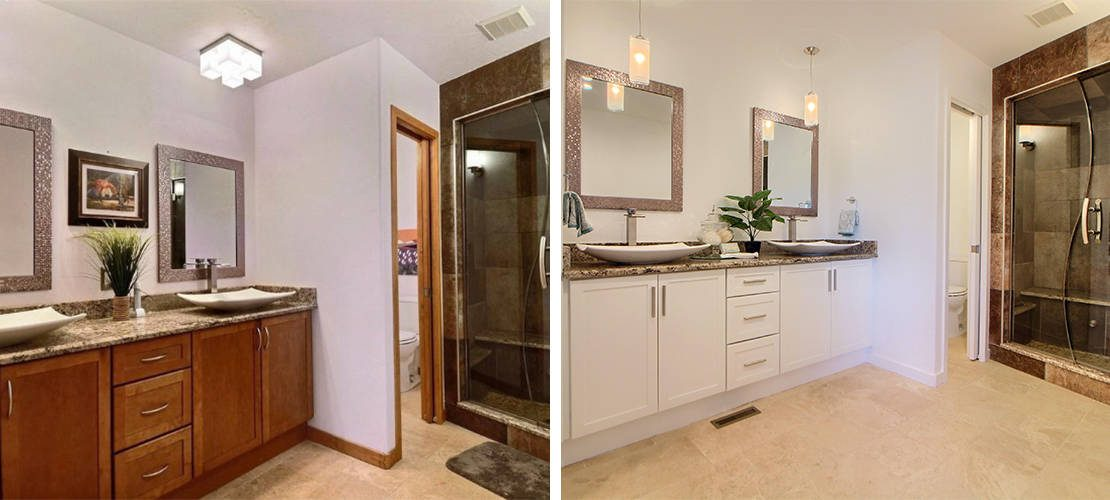 Riva Chase Before After Bathroom