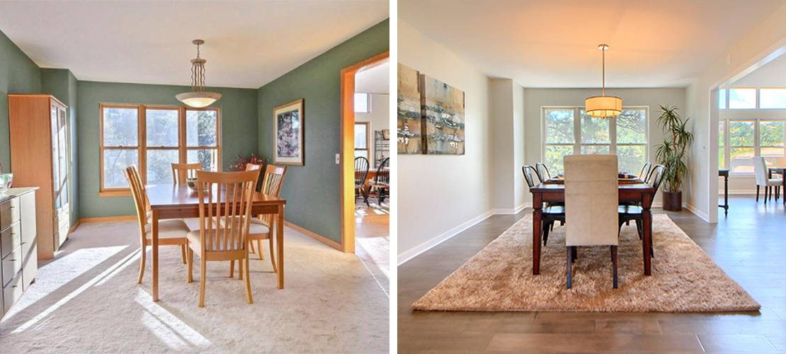 Riva Chase Before After Dining Room Design