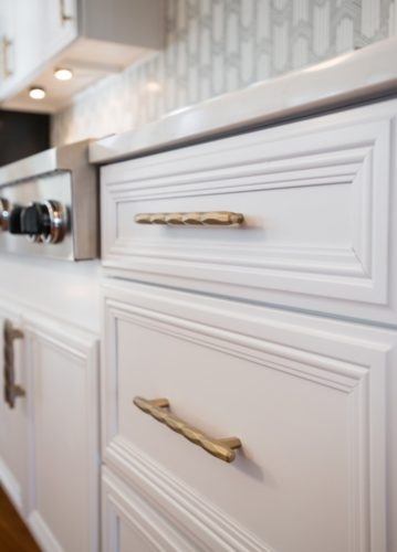 Bonnie Brae Kitchen White Cabinet Detail