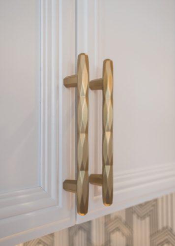 Denver Bonnie Brae Renovation Brass Handle Detail