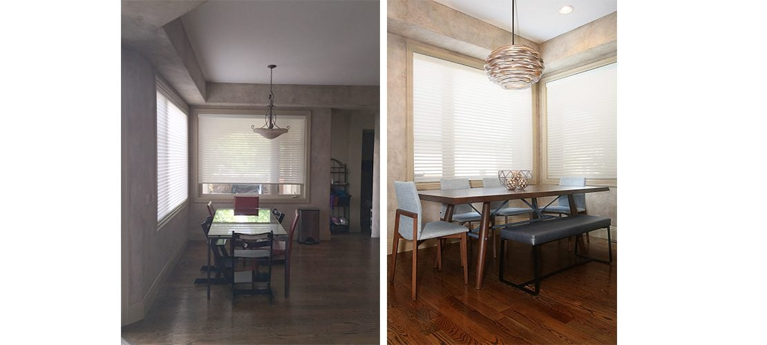 Lowry Before After Dining Design