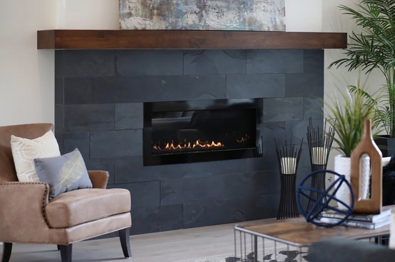 Colorado Storm Living Room Fire Place Design