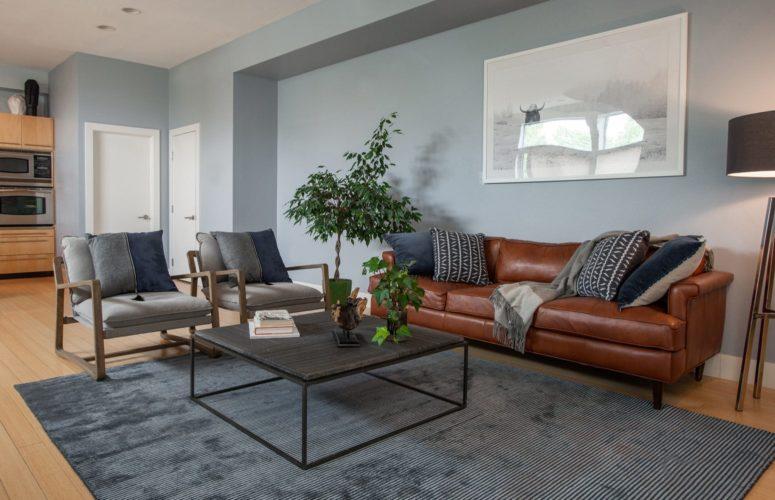 Downtown Denver Open Concept Living Room Design