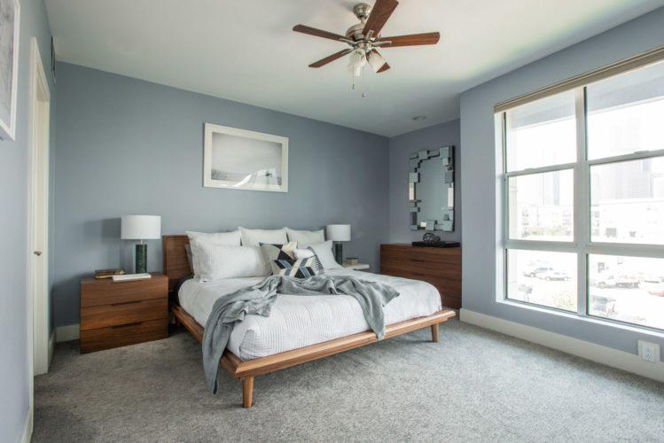 Downtown Townhouse Bedroom Interior Design Denver