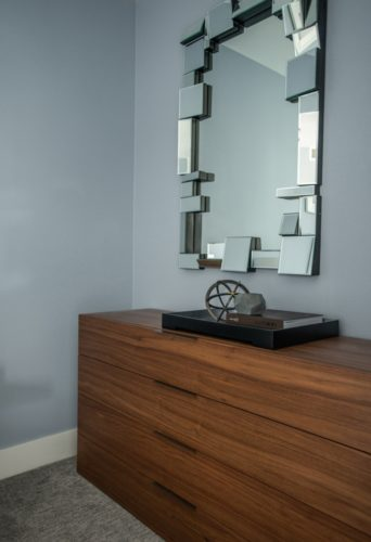 Downtown Townhouse Bedroom Mirror Design Denver