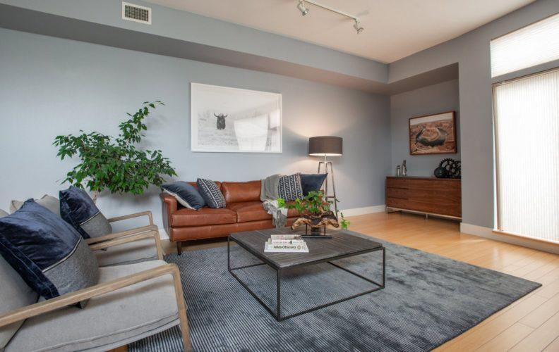 Downtown Townhouse Living Room Design Denver
