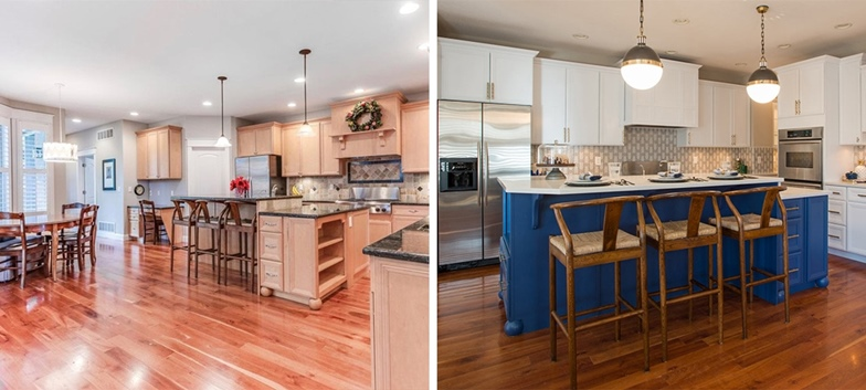 Open Kitchen Renovation Before After Margarita Bonnie Brae