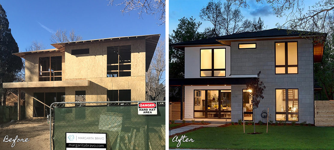 Before After Bonnie Brae Home Exterior