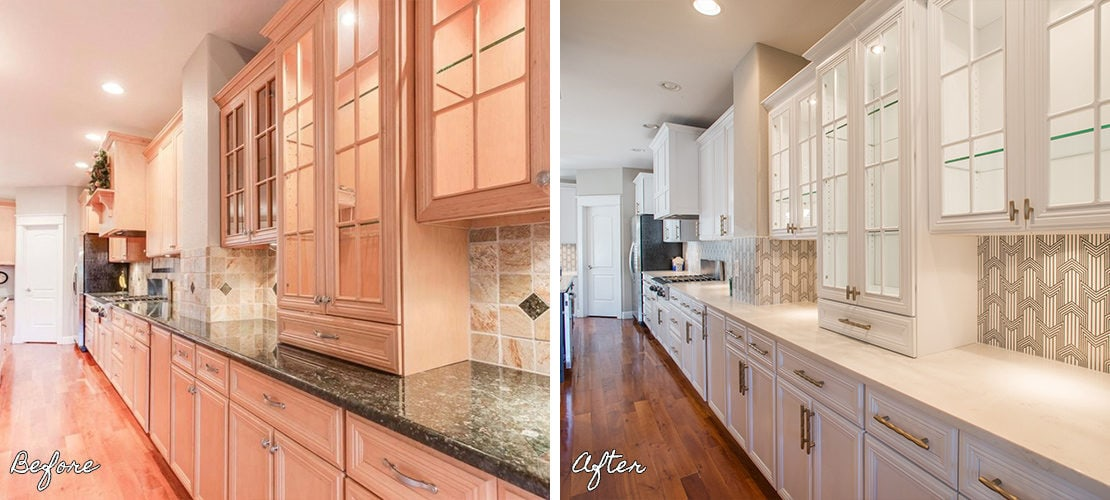Bonnie Brae Kitchen Design Before After