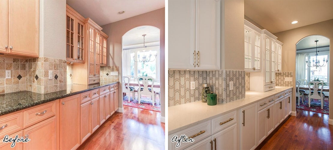 Bonnie Brae Kitchen Interiors Before After