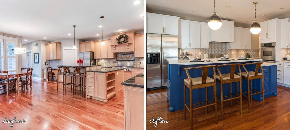 Bonnie Brae Open Kitchen Renovation Before After