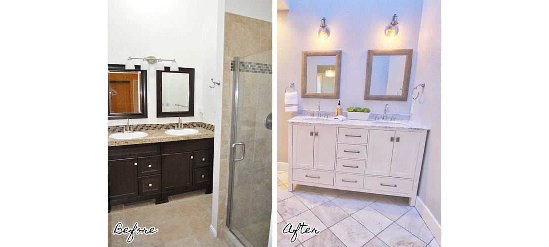 Congress Park Before After Bathroom Vanity Remodel