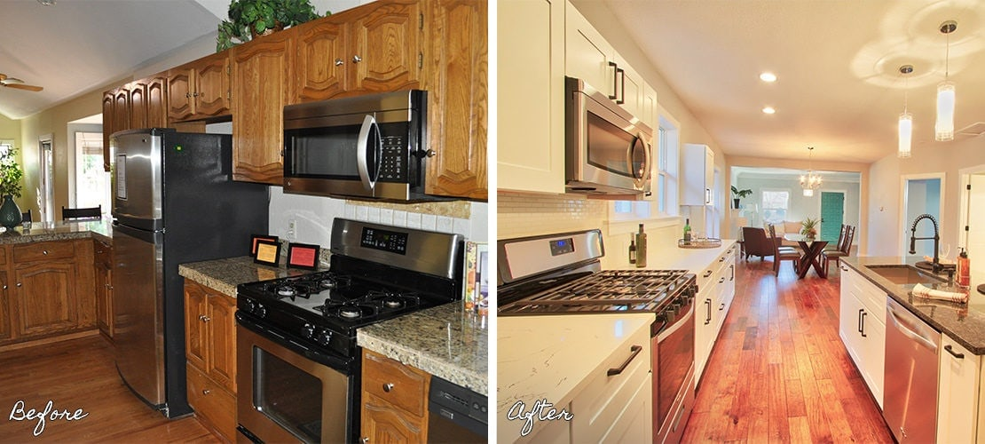 Congress Park Before After Kitchen Remodel