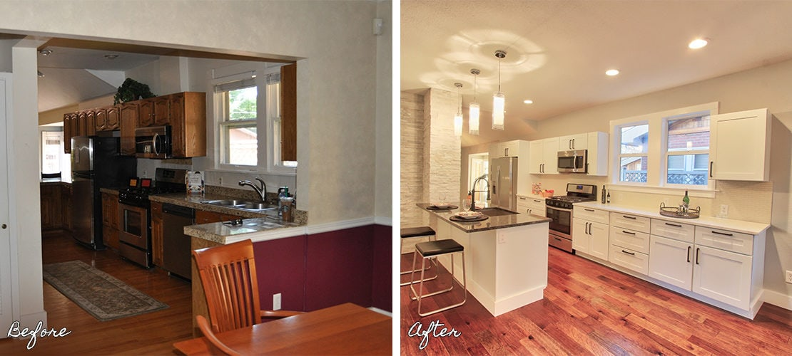 Congress Park Before After Kitchen Renovation