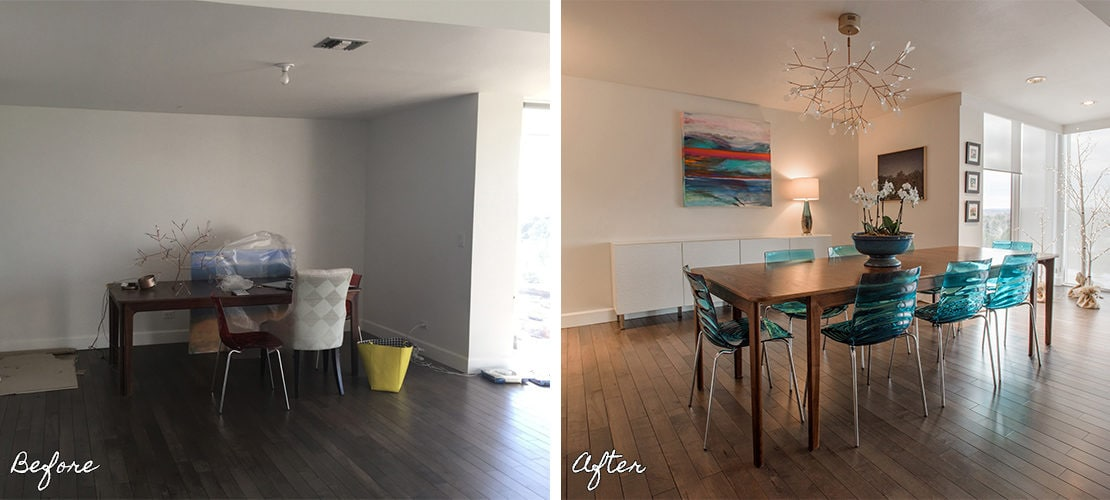 Girard Place Before After Dining Room Remodel