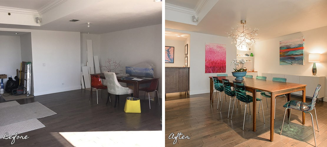 Girard Place Before After Dining Table Remodel