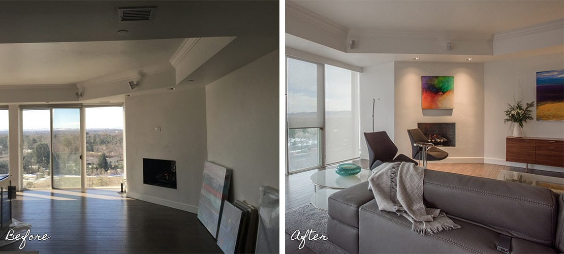 Girard Place Before After Wall Decor Remodel