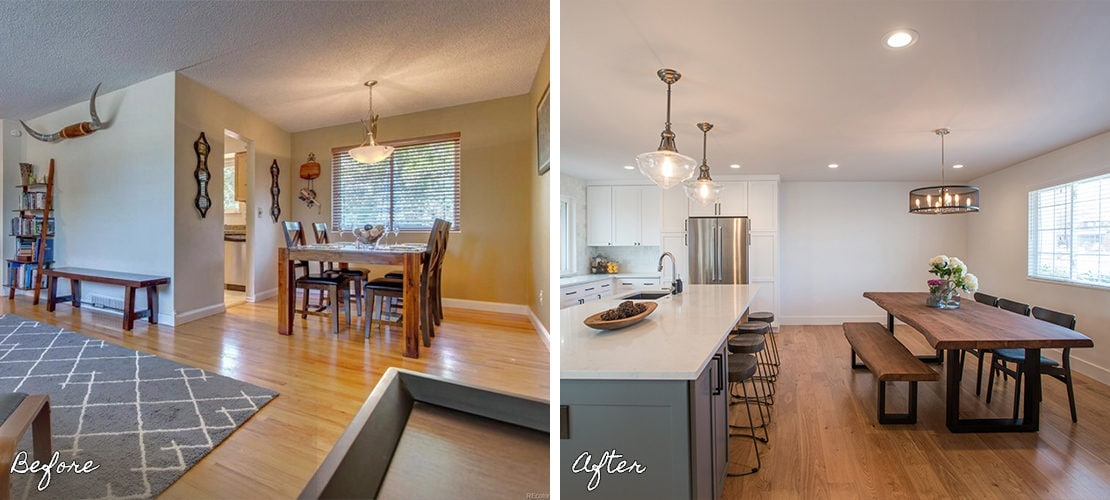 Goldenkey Before After Dining Room Remodel