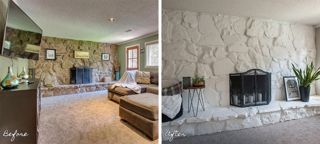 Goldenkey Before After Fireplace Renovation