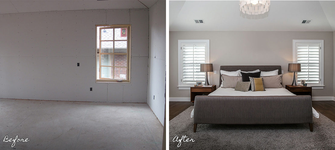 Observatory Before After Bedroom Renovation