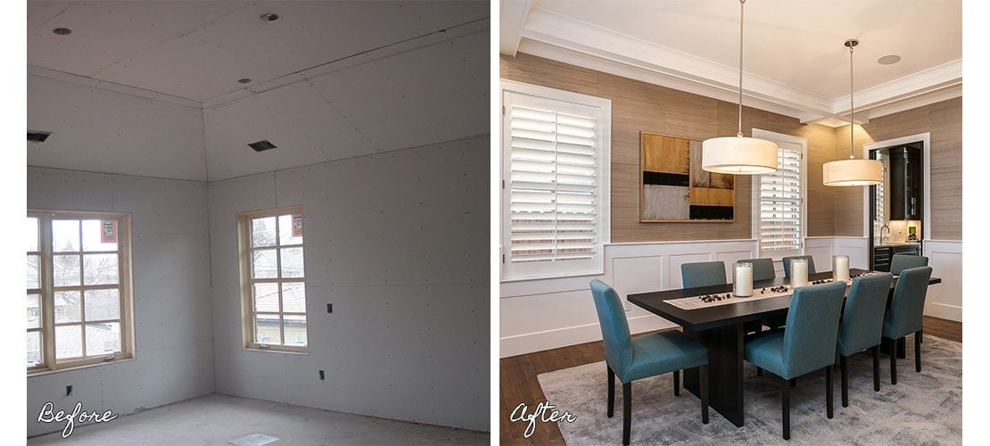 Observatory Before After Dining Remodel