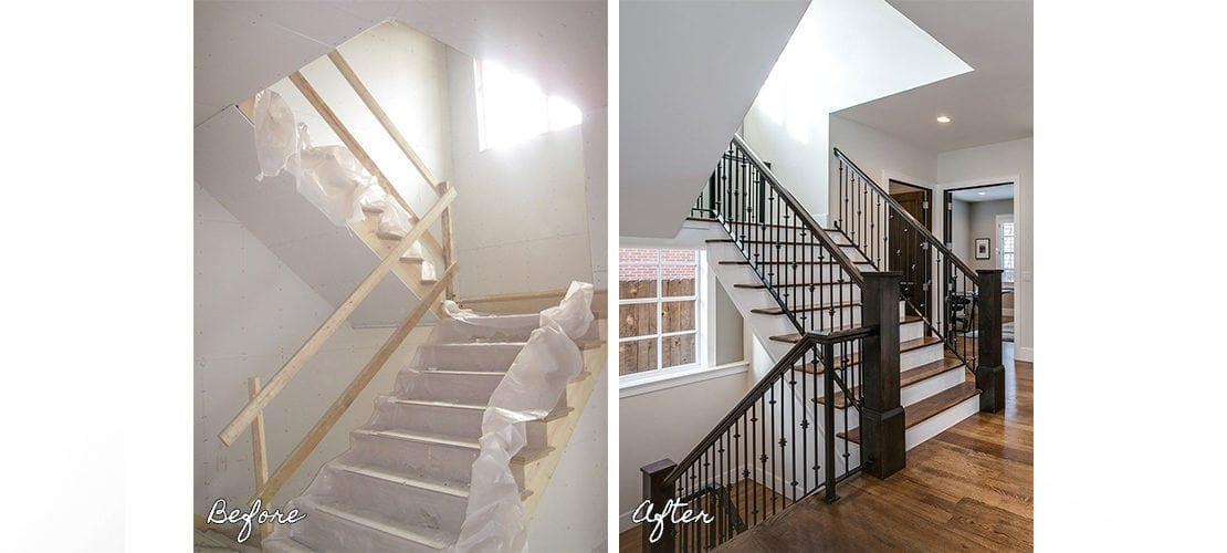 Observatory Before After Stairway Renovation