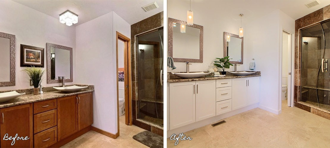 Riva Chase Before After Bathroom Remodel