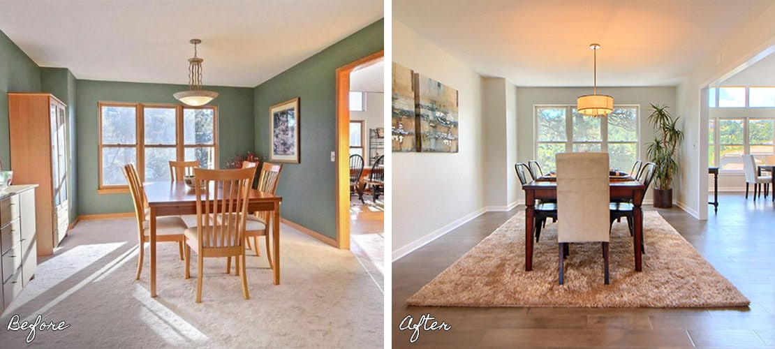Riva Chase Before After Dining Room Remodel