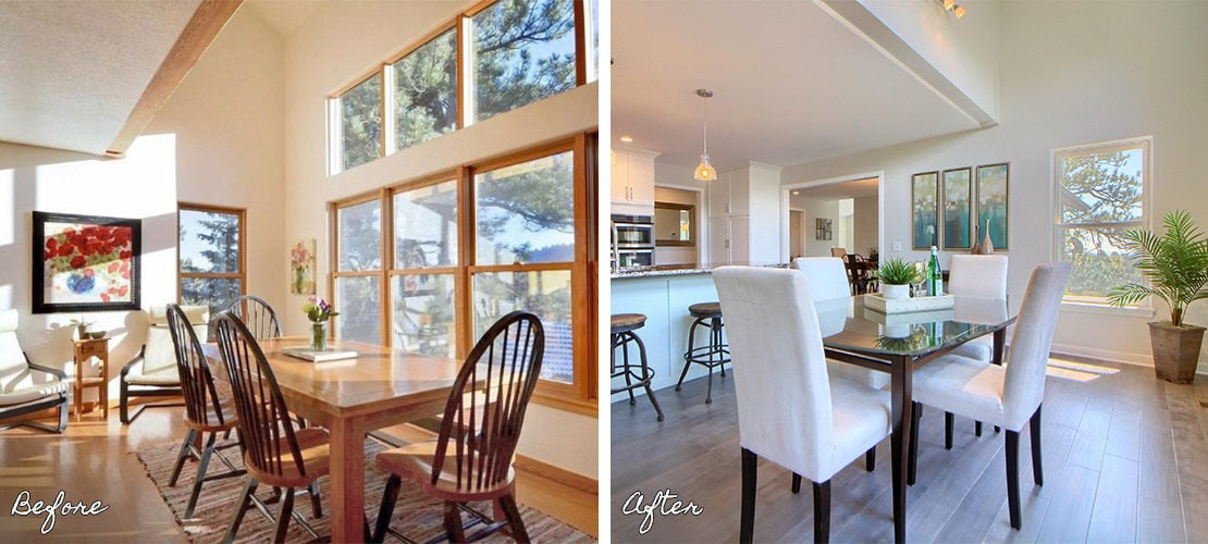 Riva Chase Before After Dining Room Renovation