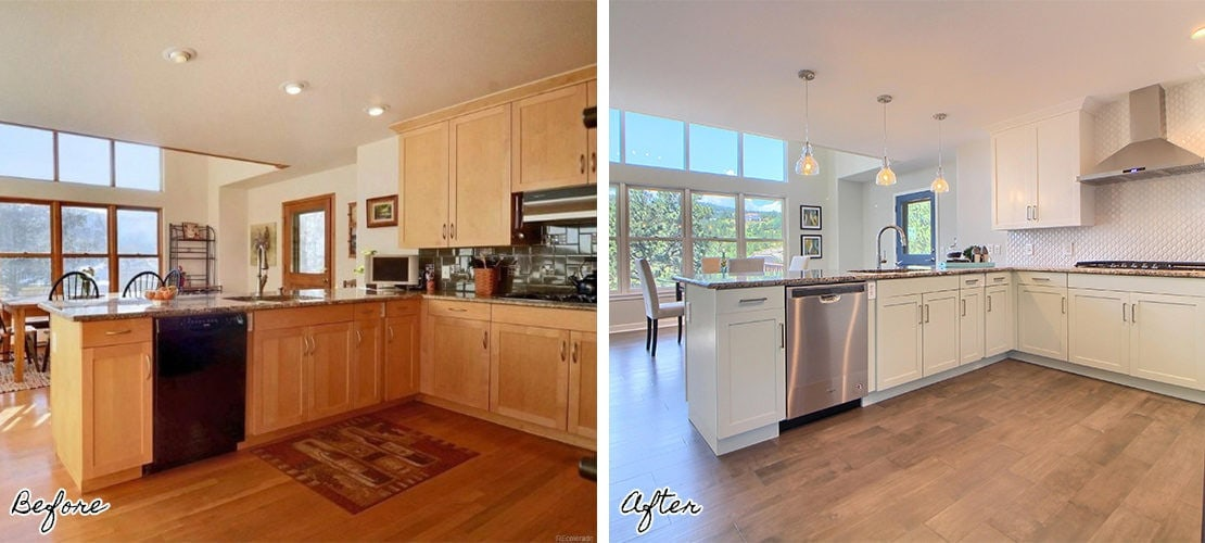 Riva Chase Before After Kitchen Renovation